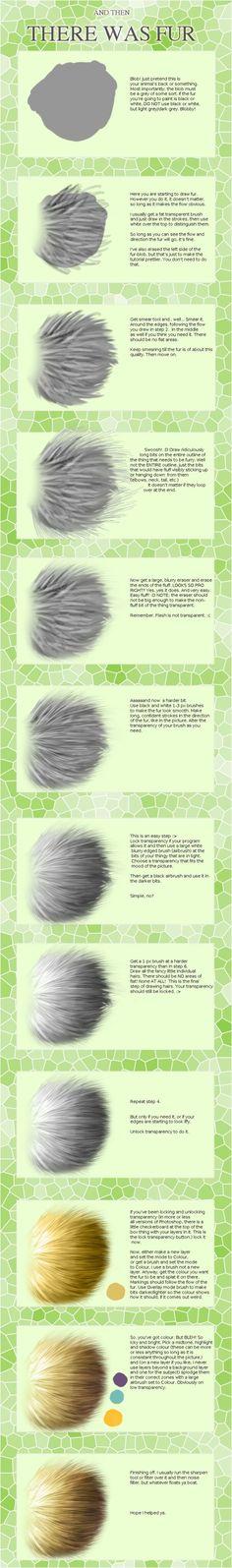 Fur  painting