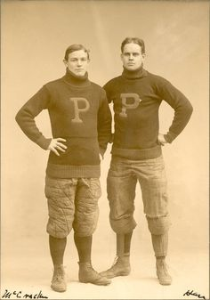 ALL-AMERICANS: Josiah C. McCracken (1874-1962), M.D. 1901, Sc.D. (hon.) 1927,  and T. Truxton Hare, All-American football players, University of Pennsylvania