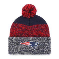 47 Brand New England Patriots Static Cuff Pom Winter Knit Hat (Navy) Winter 19fc00664