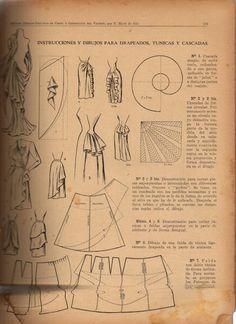 demostraciones  y dibujos para drapeados , tunicas y cascadas