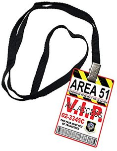 Area 51 All Access Novelty ID Badge Prop Costume - http://coolcamerapics.com/2016/11/07/area-51-all-access-novelty-id-badge-prop-costume/