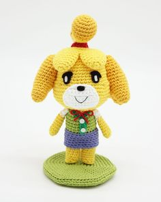 Amigurumi de Canela (Animal Crossing) | CrochetyAmigurumis.com Crochet Animals, Crochet Toys, Free Crochet, Animal Crossing, Bunting Flags, Stuffed Animal Patterns, Diy Doll, Crochet Patterns, Crochet Ideas