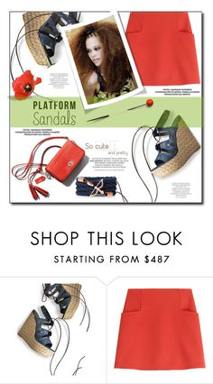 """""""Platform Sandals"""" by tina-miholic ❤ liked on Polyvore featuring Stuart Weitzman, Courrèges and Magdalena"""