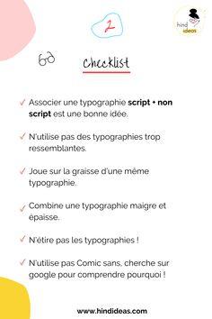 La typographie constitue peut-être l'élément de design le plus important pour transmettre au public à la fois un message et une émotion. Voici Une ème checklist pour réussir la combinaison de tes typographies. Script, Communication, Emotion, Important, Blogging, Identity, Public, Branding, Design