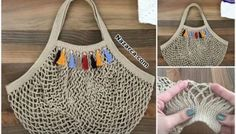 Fashion and Lifestyle Crochet Baby, Knit Crochet, Crochet Market Bag, Womens Fashion Online, Knitted Bags, My Bags, Straw Bag, Knitting Patterns, Reusable Tote Bags