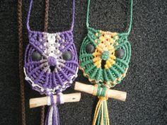 Owl macrame/Owl necklace