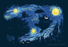 Totoro - Van Gogh Jung Shirts