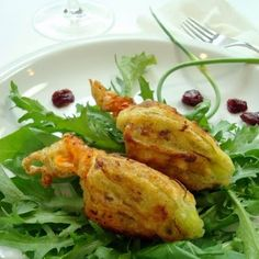 A Spicy Perspective Market Stuffed Squash Blossoms Summer Squash And Zucchini Recipe, Summer Squash Recipes, Summer Recipes, Chicken Soup Recipes, Veggie Recipes, Cooking Recipes, Veggie Meals, Finger Food Appetizers, Easy Appetizer Recipes