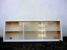 Vintage Retro 50s 60s Kitchen Wall Unit Cupboard W Sliding Gl Doors