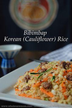 Grain free Korean fried rice made with cauliflower