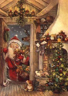 ♥♡♥ carte ancienne de Noël                                                                                                                                                      Plus