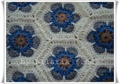 Crochet hexagon 100% Acrylic  https://www.facebook.com/hilaria.fina