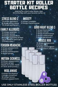 Top Twenty DoTERRA essential oil roller ball and roller bottle recipes. These are some amazing essential oil blends! Essential Oils Guide, Essential Oil Uses, Doterra Essential Oils, Essential Oil Diffuser, Essential Oil Storage, Young Living Essential Oils Rollerball, Essential Oil Starter Kit, Oils For Energy, Roller Bottle Recipes