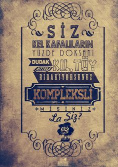 Behzat Ç. Typography by Kudret Yavuz, via Behance