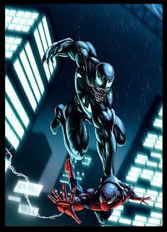 #Venom #Fan #Art. (Venom vs Spidey) By: EspenG. (THE * 5 * STÅR * ÅWARD * OF: * AW YEAH, IT'S MAJOR ÅWESOMENESS!!!™)[THANK Ü 4 PINNING!!!<·><]<©>ÅÅÅ+(OB4E)