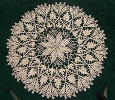 Ravelry: Cluster Stitch Doily pattern by American Thread Company Bag Crochet, Crochet Dollies, Crochet Art, Crochet Motif, Vintage Crochet, Crochet Crafts, Crochet Projects, Crochet Coaster, Crochet Thread Patterns