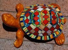 Glass mosaic on ceramic glazed tortoise R500.00