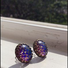 "Selling this ""Handmade color changing post earrings"" in my Poshmark closet! My username is: lauren_briggs. #shopmycloset #poshmark #fashion #shopping #style #forsale #Nameless Creations #Jewelry"