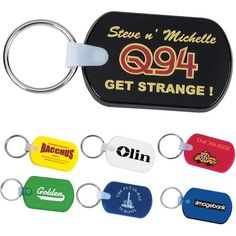 FREE Rush & FREE SHIP on Best Seller's Customized Rectangular Soft Key Tags!   #BestSellers #PromotionalItems #CustomKeychains