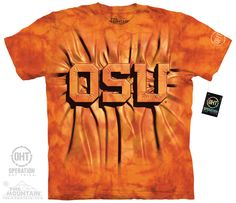 Oklahoma State - OSU Inner Spirit Adult Tee - $27.99   Shop where every purchase helps shelter pets! Check more at https://www.teampetsupply.com/product/oklahoma-state-osu-inner-spirit-adult-tee/