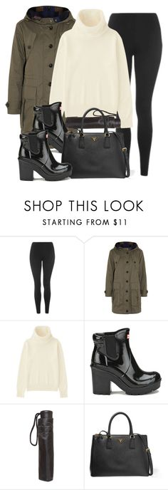 """""""Style #11697"""" by vany-alvarado ❤ liked on Polyvore featuring Topshop, Burberry, Uniqlo, Hunter, Dorothy Perkins and Prada"""