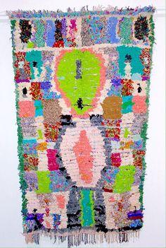 Boucherouite in rich jewel tones by HandiraBlankets on Etsy