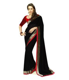 New black party wear rachel net blouse saree-Sarees-SAREEZ HOUSE