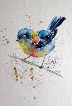 ARTFINDER: Little bird by Kovács Anna Brigitta - Original watercolour painting on high quality watercolour paper. I love landscapes, still life, nature and wildlife, lights and shadows, colorful sight. Thes...