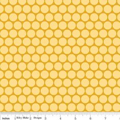 "Riley Blake Designs ""Peak Hour"" Circles in Yellow 1 Yard Cut on Etsy, $8.75 Top fabric for Grandmom's purse, only need 1/2 yard"
