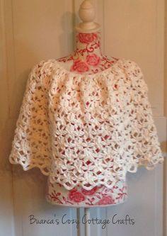 Cotton poncho summer poncho crochet poncho by BsCozyCottageCrafts #etsyspecialt #integritytt