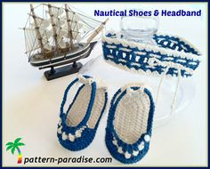 Crochet Pattern for Baby Booties & Headband by ThePatternParadise