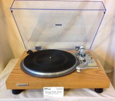 Pioneer PL 518 vintage turntable,custom restoration. In Natural Cherry.⭐️LOOK⭐️ #Pioneer
