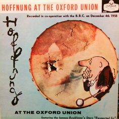 Gerard Hoffnung at the Oxford Union #Hoffnung #LP #cover #cartoon