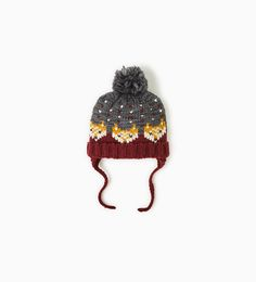 KNIT FOXES HAT-Hats, scarves and gloves-ACCESSORIES-BABY BOY | 3 months - 4 years-KIDS | ZARA United States