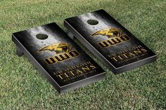 Rustic Metal Style Wisconsin-Oshkosh Titans Bag Toss Game
