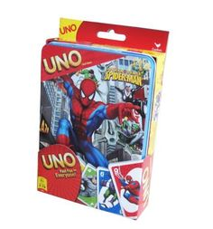 Spiderman Uno Card Game Tin by Cardinal Industries, http://www.amazon.com/dp/B007Z0LC5U/ref=cm_sw_r_pi_dp_ALGbrb183ZN30