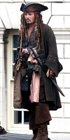 Johnny Depp as Captain Jack Sparrow, Pirates of the Caribbean Captain Jack Sparrow, Charles Vane, Johny Depp, Pirate Life, Jolly Roger, Pirates Of The Caribbean, Costume Design, Dress Up, Celebs