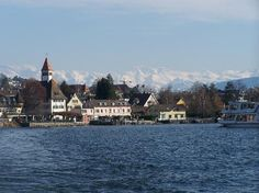 Switzerland, Zurich -- Lake Zurich Scenic Cruise.