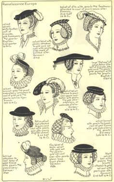Hats and hair accessories from Renaissance Europe