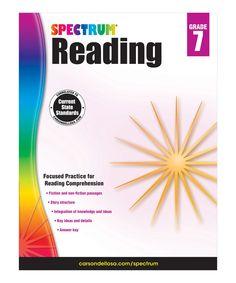 Look what I found on #zulily! Grade 7 Spectrum Reading Workbook by Spectrum Books #zulilyfinds