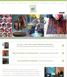 ArtTrail.com is the place to see everything! The Eleven, Event Page, Artist Portfolio, News Studio, Event Calendar, Community Art, Trail, Shopping
