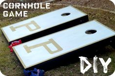 DIY Cornhole bean bag game set