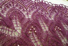 FAIRYKNITS: Lace Tuch aus Drops Lace nach kostenloser Junghans Anleitung Dancing leaves