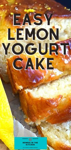 Easy Lemon French Yogurt Cake. Delicious tangy lemon, soft and moist, incredibly easy made from scratch cake recipe, great as a tea time snack