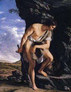 Orazio Gentileschi, Artemisia Gentileschi, Italian Painters, Italian Artist, Pisa, Berlin Museum, David And Goliath, Caravaggio, A4 Poster