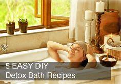 5 DIY Detox Bath Recipes by @BlenderBabes