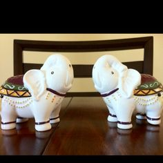 Pier One Imports elephant salt and pepper shakers.