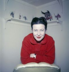 Simone de Beauvoir. Paris, France, 1957. Photos: Jack Nisberg.