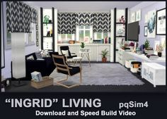 PQSims4: Ingrid livingroom • Sims 4 Downloads