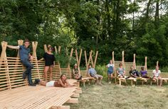 Studio Weave co-founder Ahn led this year's Studio in the Woods summer workshop programme for students, architects and designers, first initiated by architect Piers Taylor of Invisible Studio to encourage a more hands-on approach to design.. Studio in the Woods movie with Je Ahn of Studio Weave